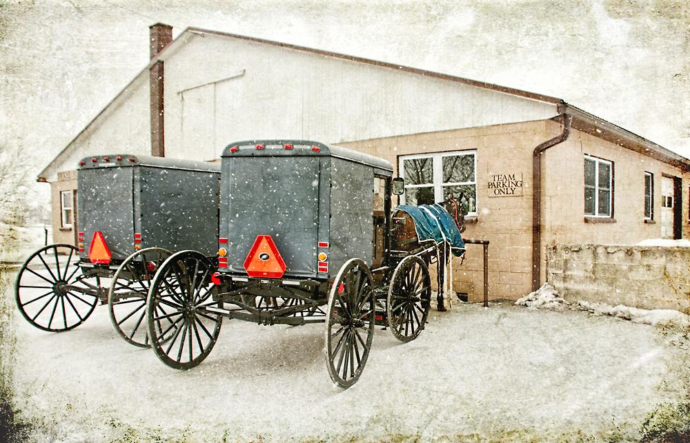 Amish Buggy at Store