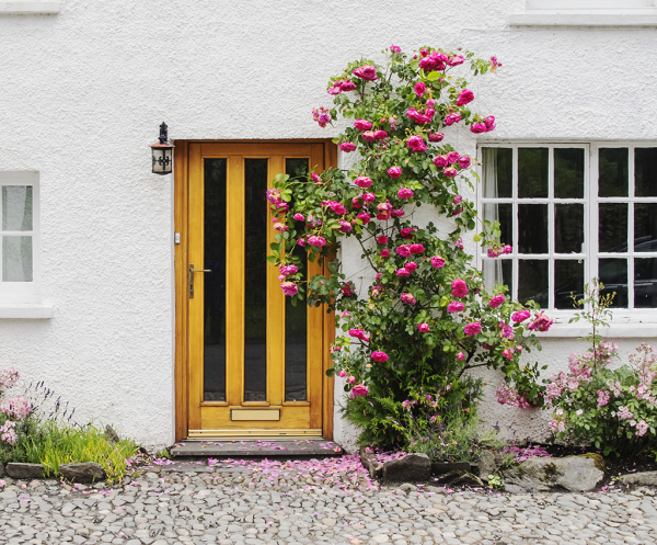 House entrance in Scotland