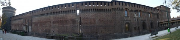 a panorama of castello sforzesco (Milan Italy)