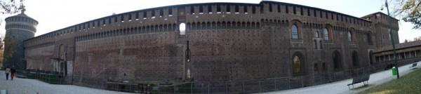 a panorama of castello sforzesco (Milan Italy)