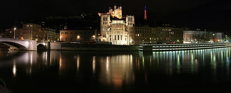 La cathédrale St Jean et Fourvière à Lyon