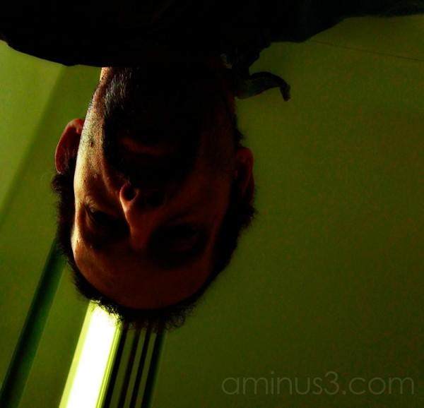 Self portrait upside down.