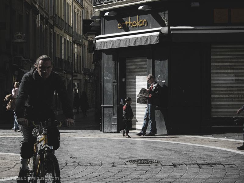 Street scene in Montpellier, France.