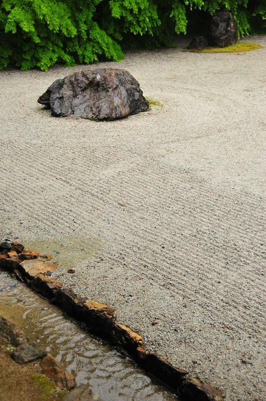 Spring Rain, Iwakura Jisso-in Temple, 3 (岩倉実相院)