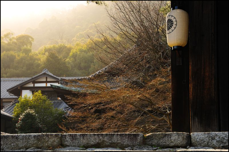 Iwakura Jisso-in Temple, (岩倉実相院), Sundown