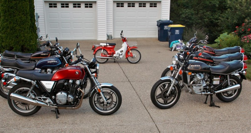 Vintage Honda Motorcycle collection