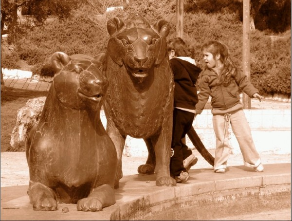 Kids and Lions