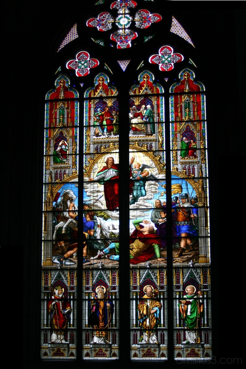 bavarian window in cologne cathedral