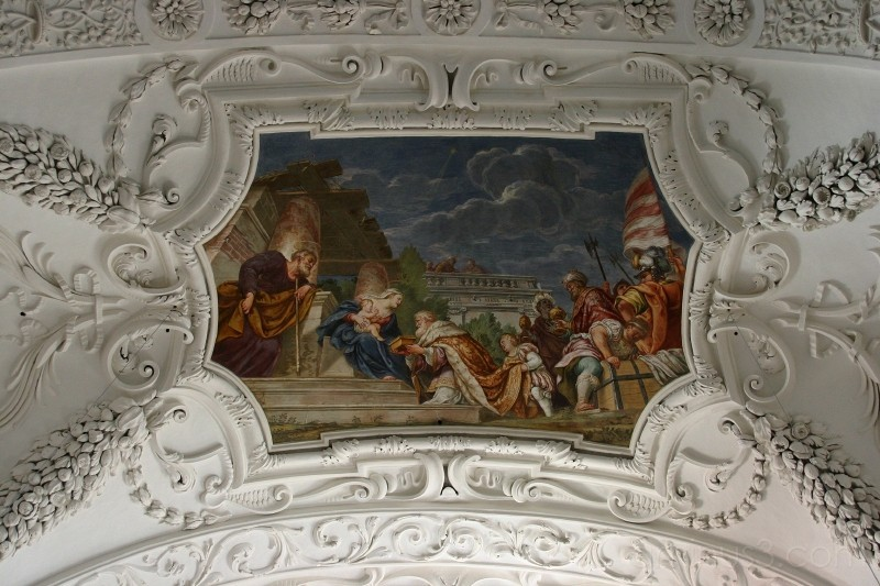 Ceiling fresco, Tegernsee Abbey