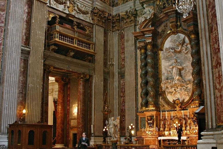 St. Aloyzius Gonzaga in Glory, Sant'Ignazio, Rome