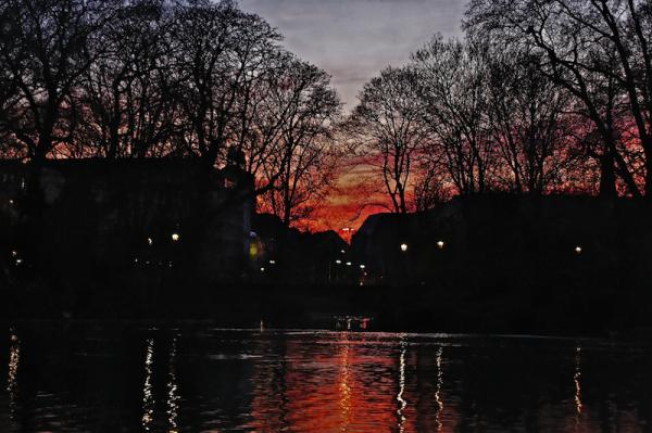 Evening mood at Hofgarten, Düsseldorf