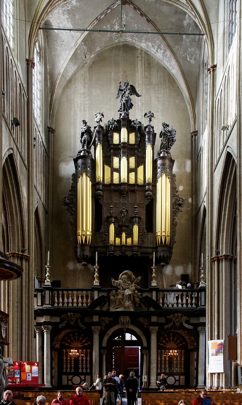 St Salvator, Bruges: Organ