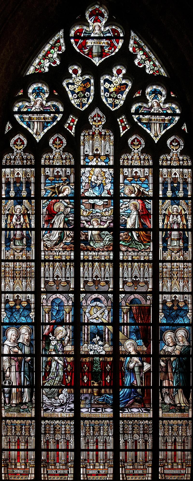 St Salvator, Bruges: Annunciation Window