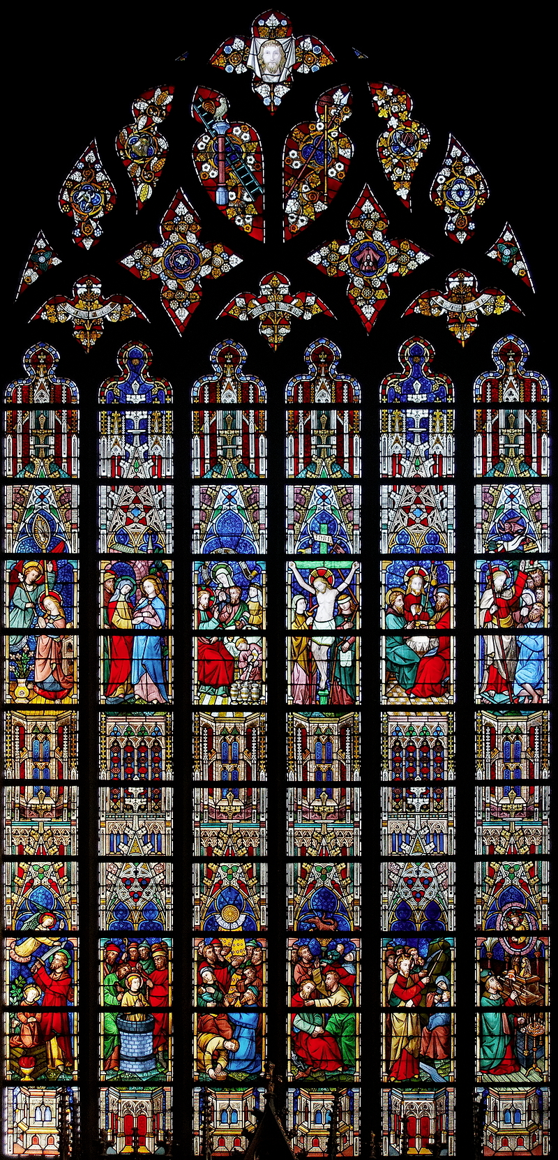 St Salvator, Bruges: Jesus Window