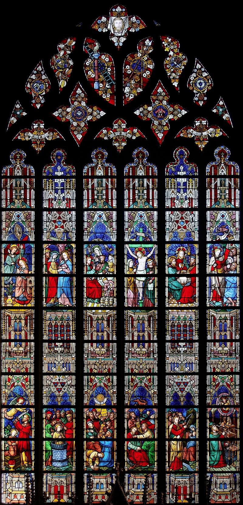 St Salvator, Bruges: Jesus Window