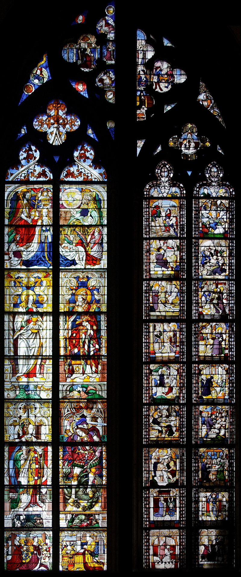 Cologne Cathedral: Two Windows