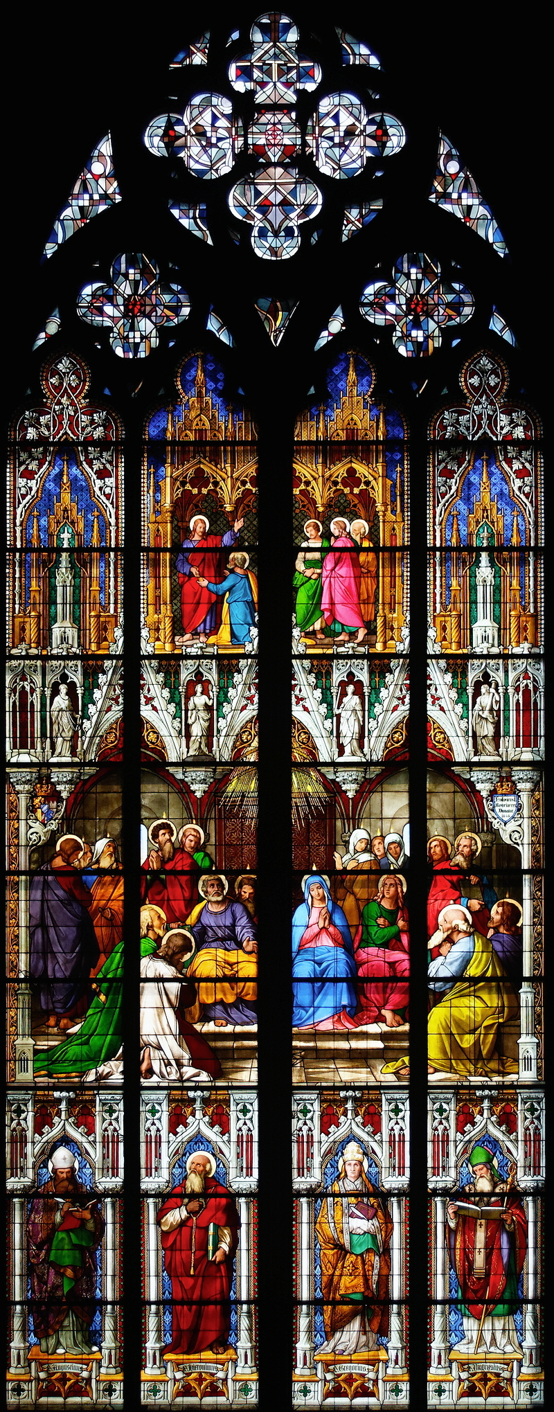 Cologne Cathedral: Pentecost Window