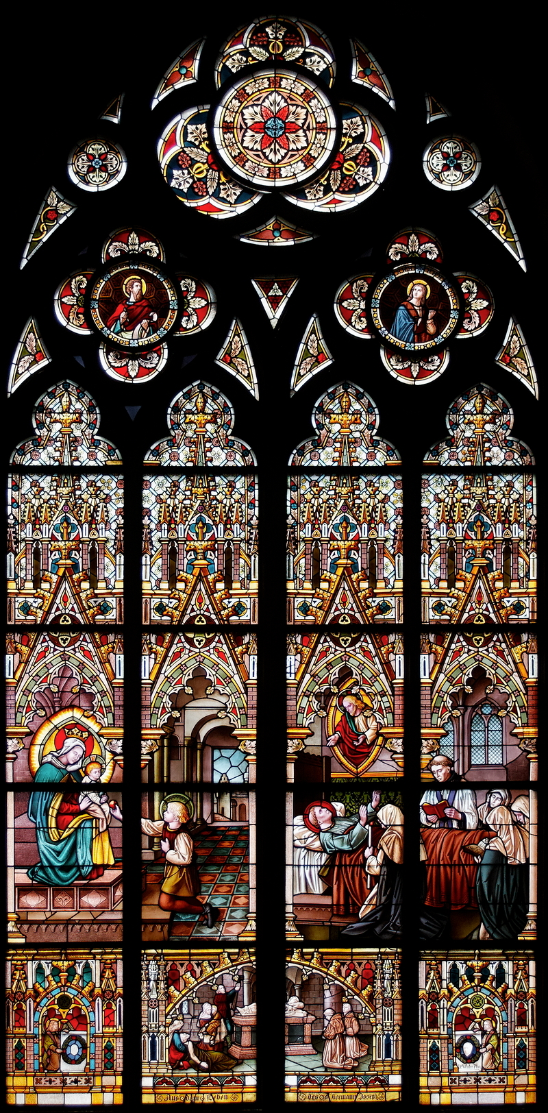 St Marien: Hermann Joseph Window