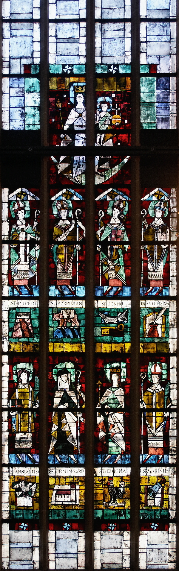 Frauenkirche: Saints of the Archdiocese Window