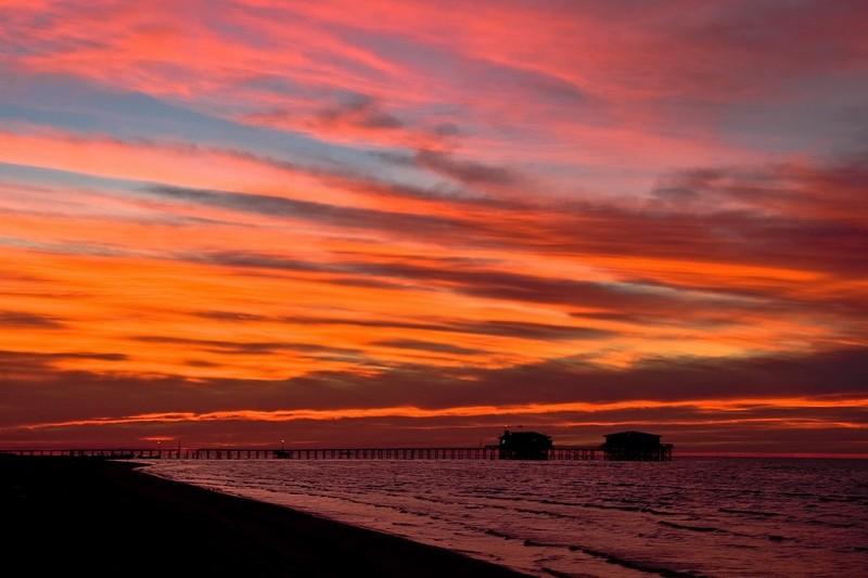 sunset, sky on fire,