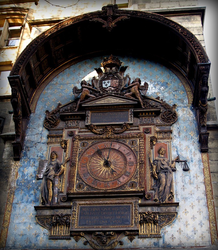 paris, clock of conciergerie