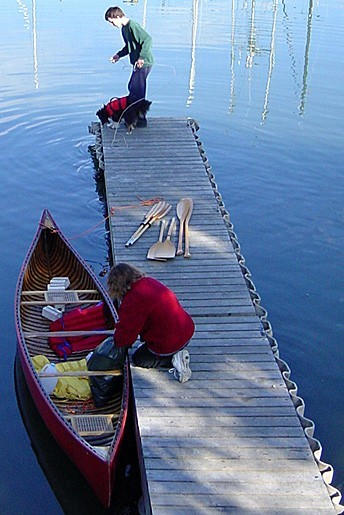 Canoe trip - Saltspring Island, Canada