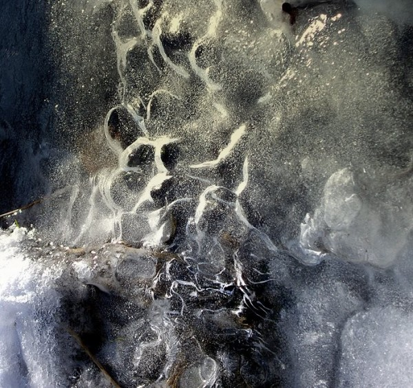 Water flowing under ice - Cigel, Slovakia
