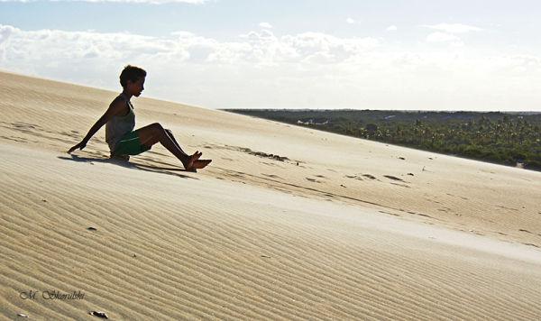 Sand sledding - Maracajau, Brazil