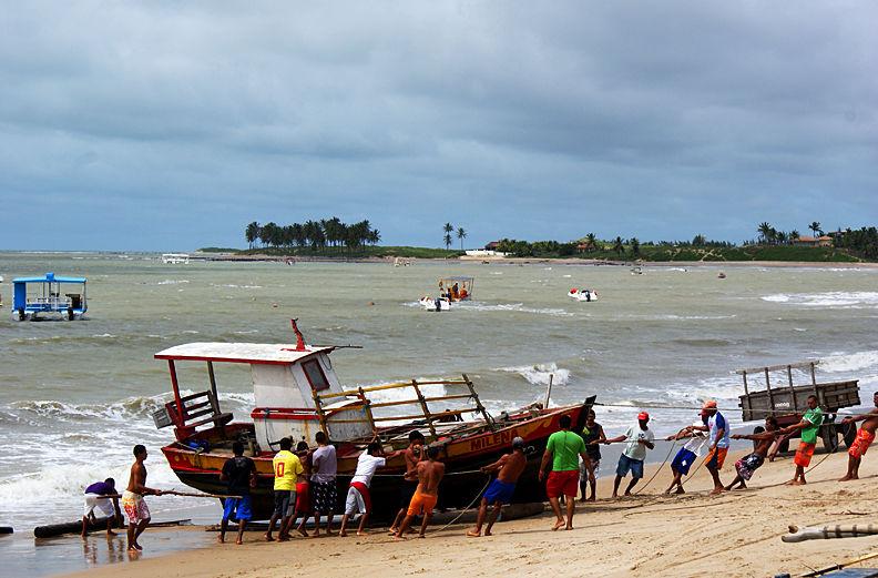 Dragged ashore