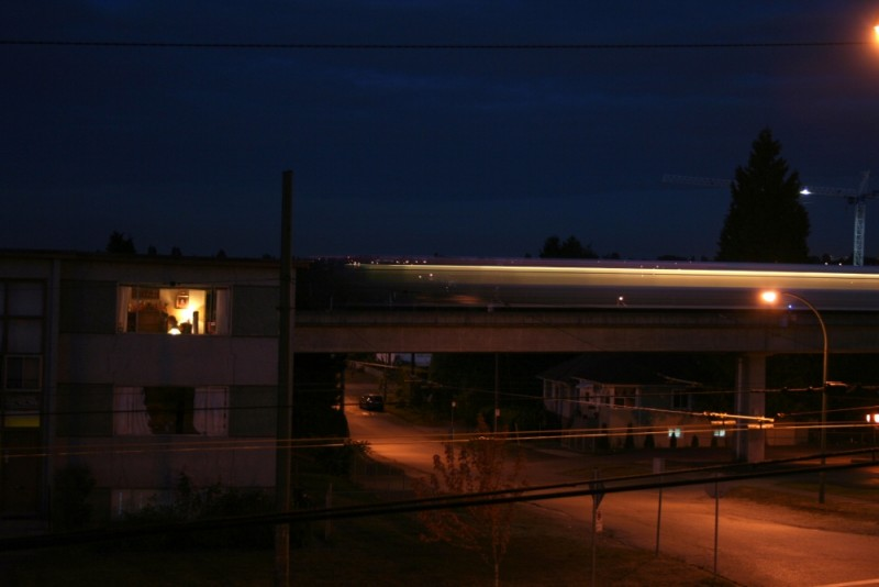 skytrain at night