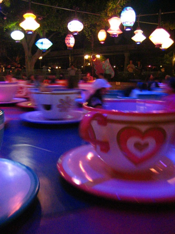 A shot of the Teacups at Disneyland.