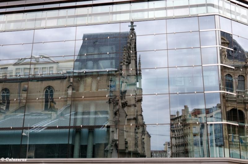 Lyon eglise reflet