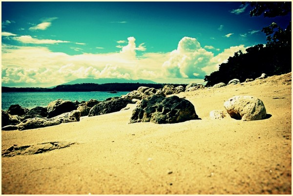 Shore of Atulayan Island in Sagñay, Camarines Sur
