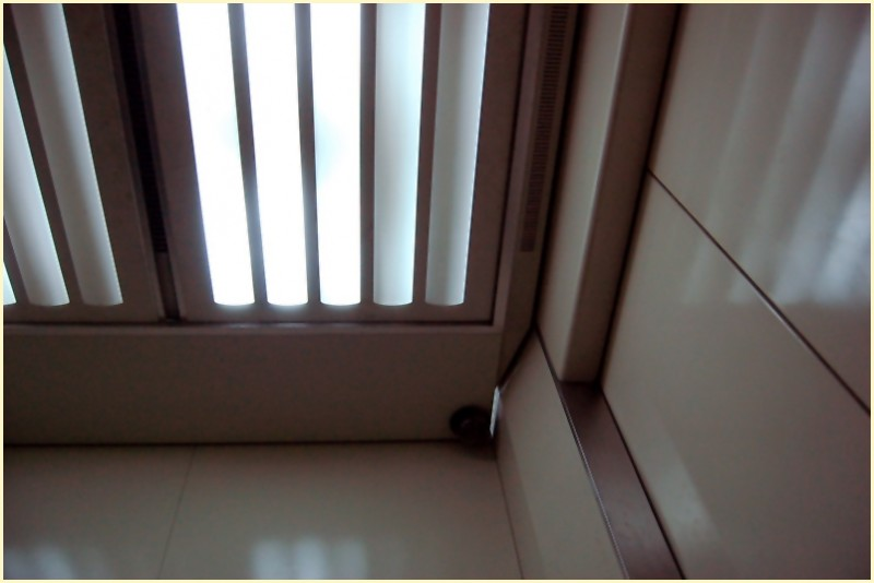 Ceiling Lamps and Hidden Camera in Elevator