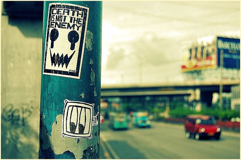 Death is not the Enemy Sticker Graffiti