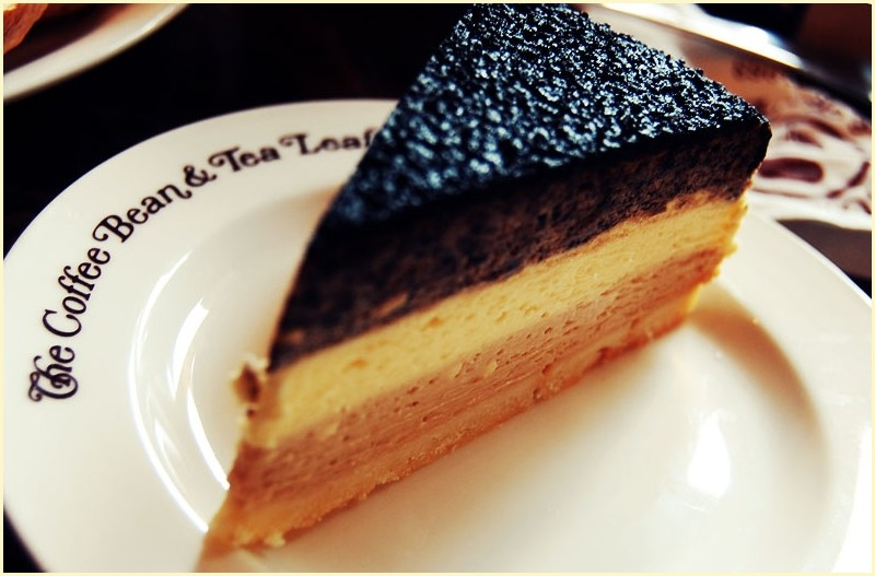 A Coffee Bean and Tea Leaf Triple Deck Cheesecake
