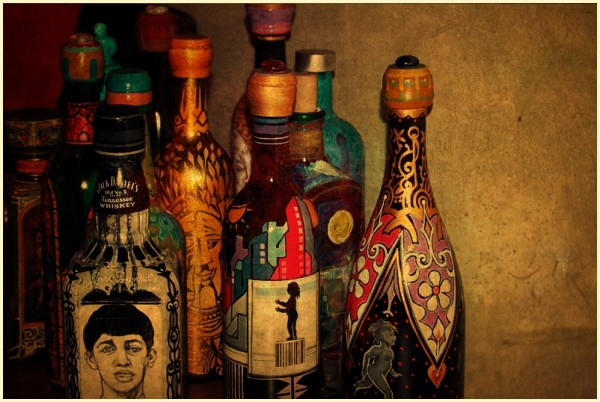 Painted Bottles at Habi Art Gallery, Serendra