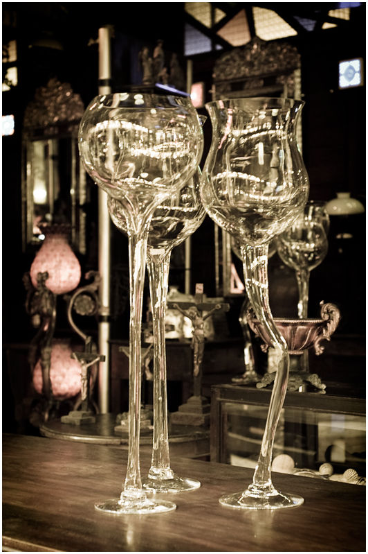 Giant Wine Glasses in an Antique Shop, Tiendesitas