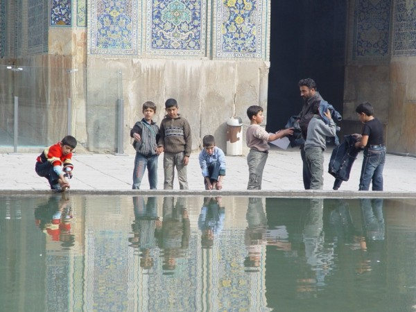 Learning the Ablution in  an Isfahan Mosque