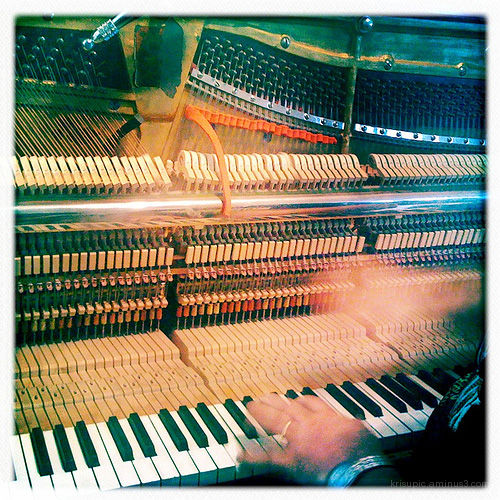 tuning the piano