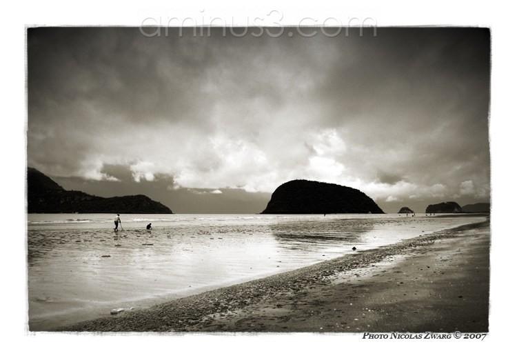 Dolphin beach at low tide, Prachuap Khiri Khan.