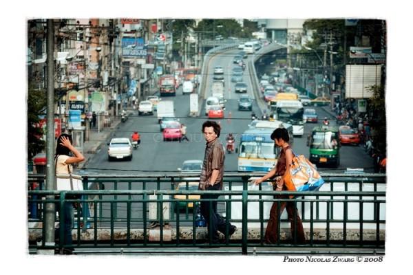 Bangkok avenue and catewalks