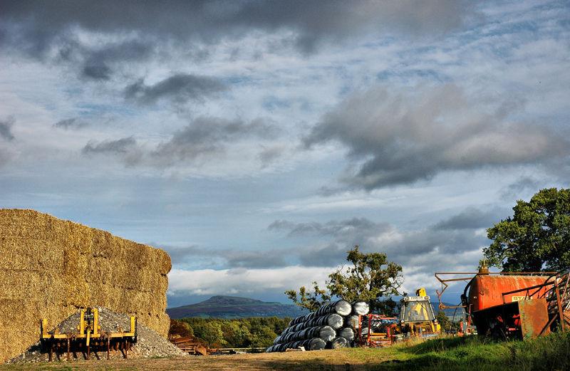 Farmyard Ludlow Shropshire UK