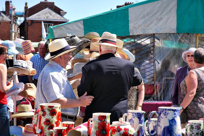 Hats Ludlow Market Shropshire UK