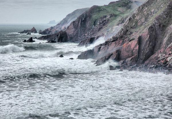 West Castle Bay Pembrokeshire Wales UK