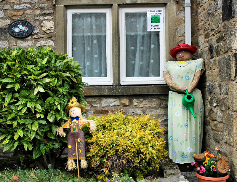 Kettlewell Scarecrows Yorkshire Dales UK
