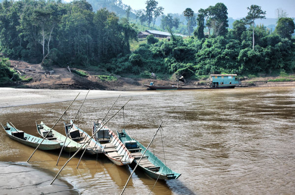 Fishing Boats Mekong Laos