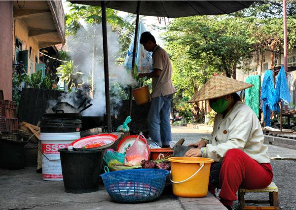 Street cooking Luang Prabang Laos