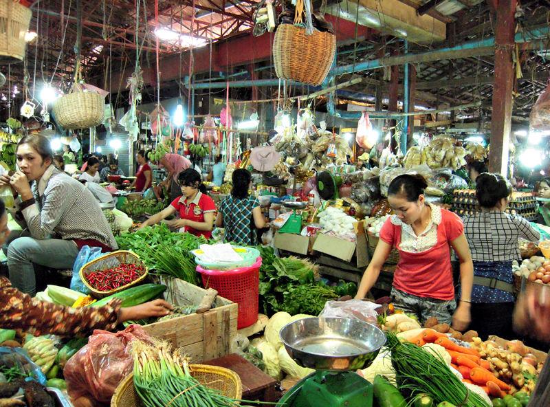 Market Siem Peap Cambodia