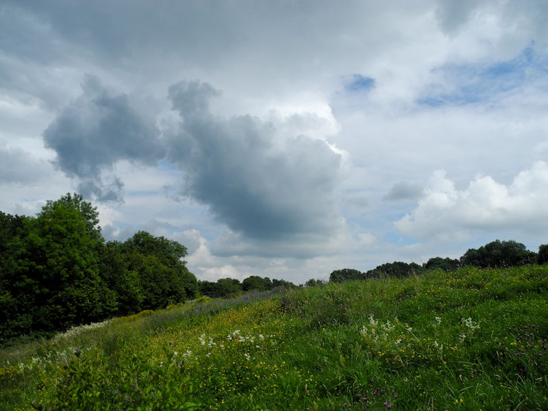 Clouds Caynham Camp Ludlow Shropshire UK